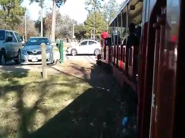Spectacular Train Collision with a Car on a Railroad Crossing