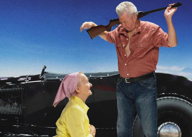 Cool Calendar of Old People Acting Out Famous Movie Scenes