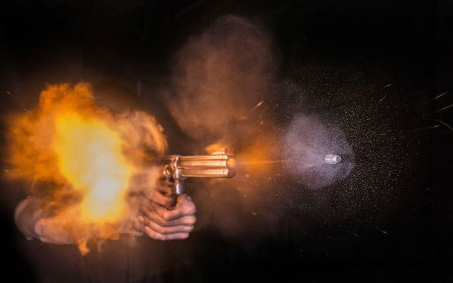 Great Images of the Moment a Bullet Leaves a Gun