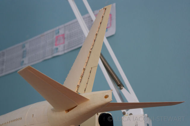 A Scale Boeing Airplane Made Entirely Out of Paper