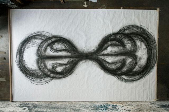 Artists Creates Lifesize Artwork Using Her Whole Body