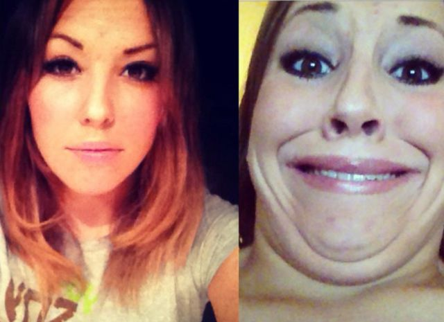 Good Looking Girls Pulling Totally Unattractive Funny Faces