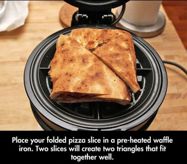 Cheesy and Delicious Leftover Pizza Snack Idea