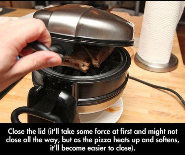Cheesy and Delicious Leftover Pizza Snack Idea