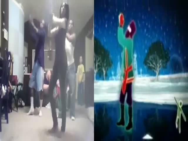 Incredible Side-by-Side Just Dance Run to 'Rasputin'