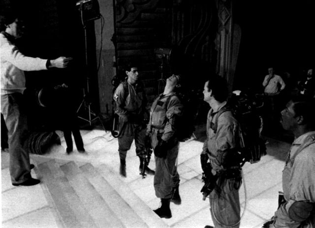 "Candid Snaps of the Backstage Action on ""Ghostbusters"""