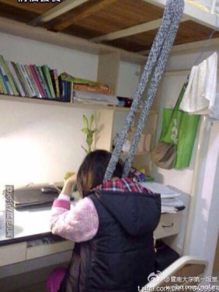 Chinese Students Use This Bizarre Trick to Stay Awake while Studying