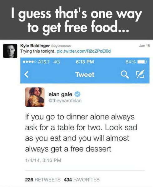 One Guy's Hilarious Guide to Getting Free Food
