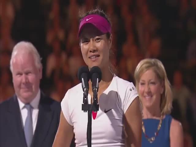 Li Na's Hilarious Winner's Speech at 2014 Australian Open  (VIDEO)