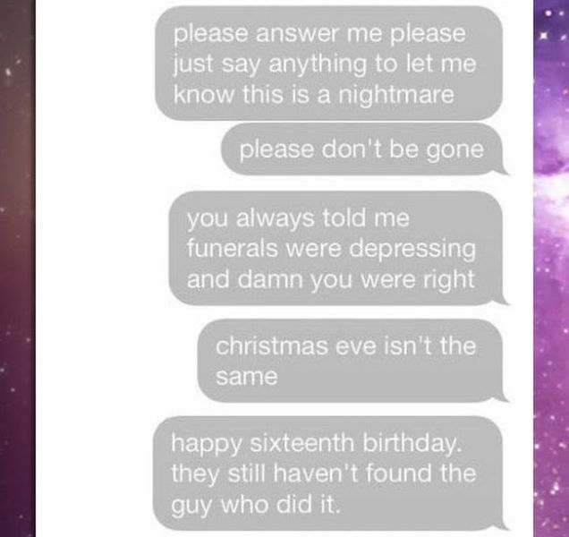 A Text Conversation That Will Make You Cry