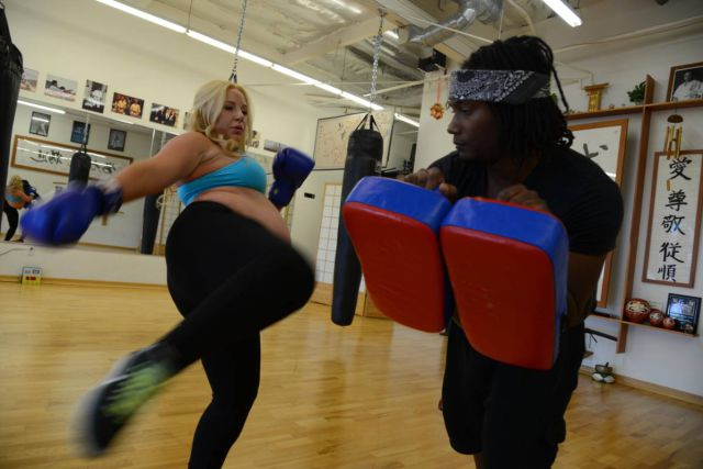 This Kickboxing Queen Doesn't Stop for Anything