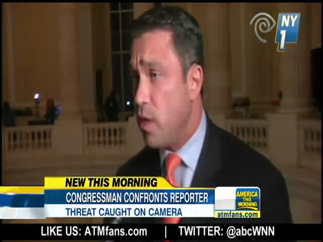 Congressman Caught on Camera Threatening TV News Reporter  (VIDEO)