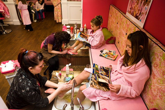 A Beauty Spa Exclusively for Little Girls