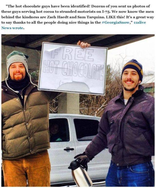 Atlanta Traffic Jam Unites Strangers through Random Acts of Kindness