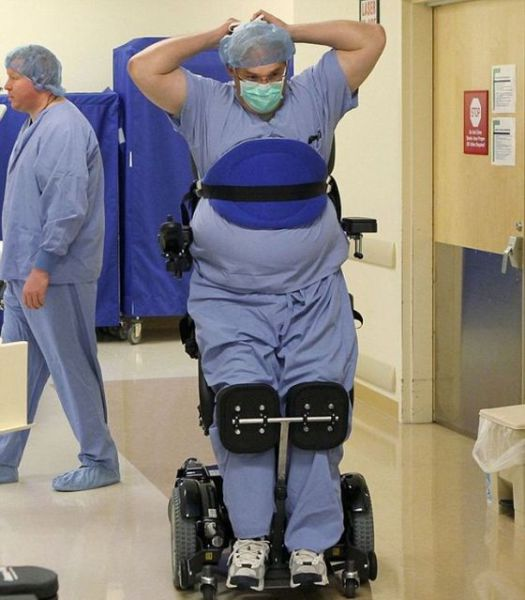 A Crippled Surgeon That Stands Tall for Work
