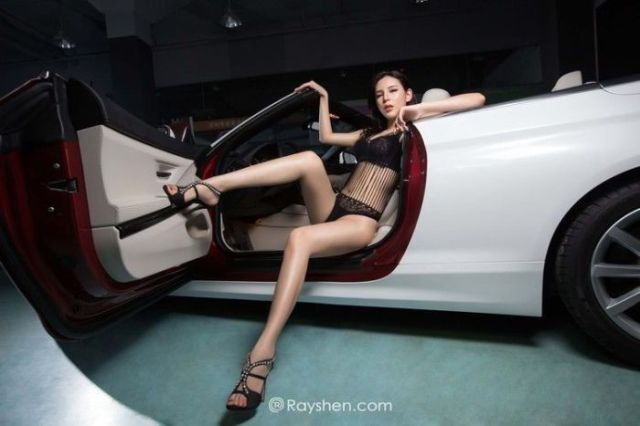 Sexy Girls and Cars Are a Match Made in Heaven