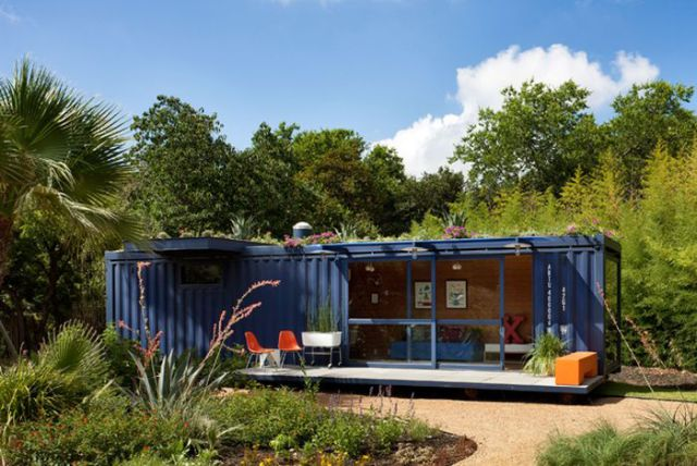 Shipping Container Transformed into Modern Home
