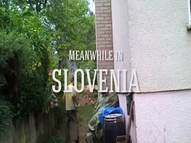 Meanwhile, in Slovenia...  (VIDEO)