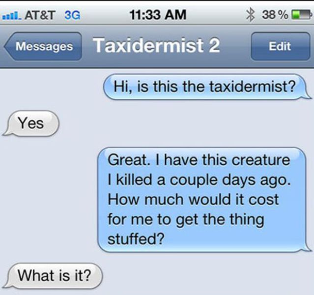 The Perfect Response to a Text Prank