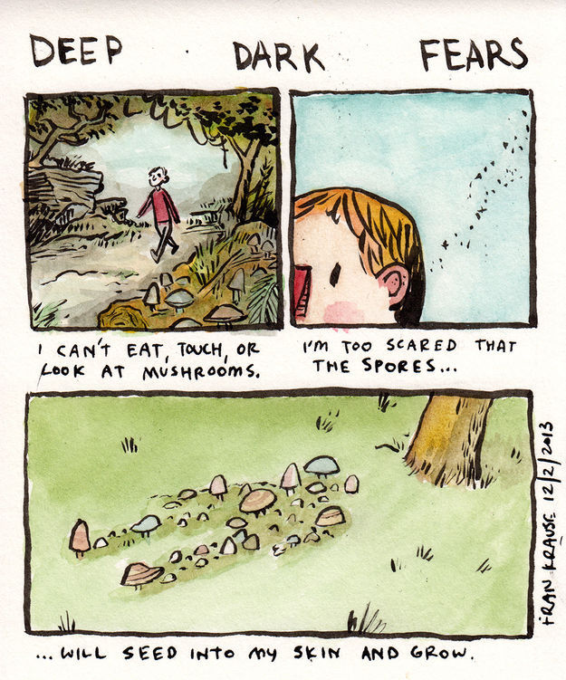 Your Darkest Fears as Creepy Comic Strips