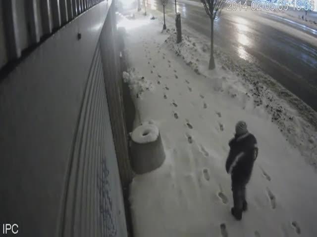 Brooklyn Snow Plow Nails Pedestrian Big Time  (2 videos)