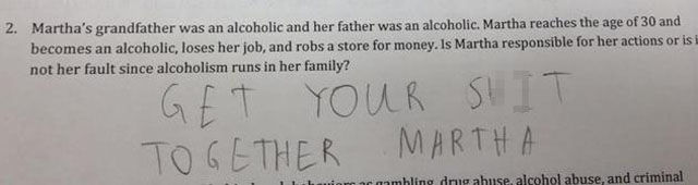 Hilarious Responses to Test Questions