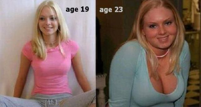 Oldie of the Day: Girls Who Let Themselves Go Before and After Pics