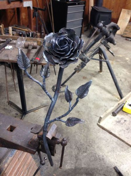 A Romantic Handmade Steel Rose
