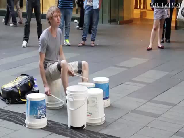 Epic Street Drum Performance