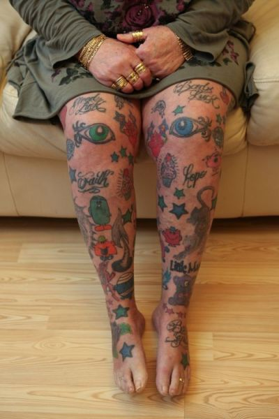 The Grandma with an Impressive Collection of Tattoos