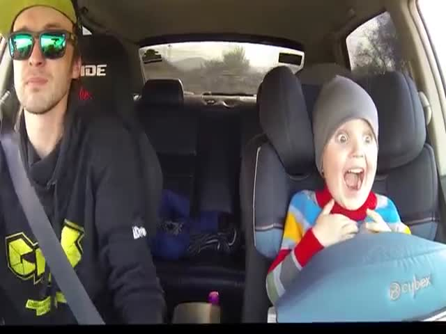 Father Takes Son for a Drifting Ride in His Subaru Legacy