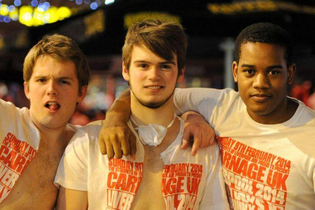 Students Unite for Drunken Debauchery in Liverpool