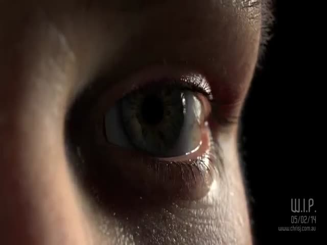 Beautiful Photorealistic Human Eye in 3D  (VIDEO)