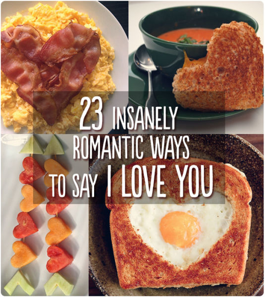 "Brilliant, Romantic Ways to Say ""I Love You"" with Food"