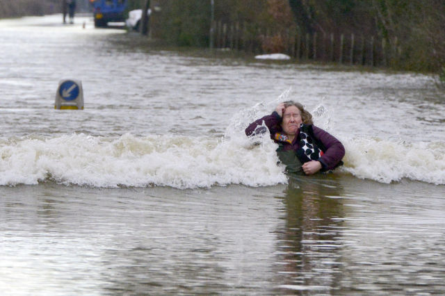 Funny Moments Spotted in the Midst of Violent English Storms