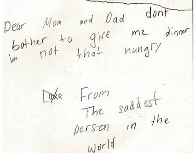 The Crazy, Cute and Candid Notes From Kids