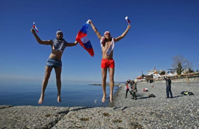 Sunny and Warm Days at the Sochi Winter Olympics