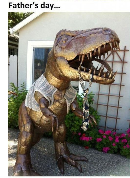 There Are So Many Awesome Uses for a Lawn Dinosaur