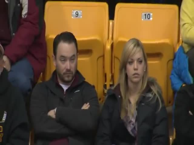 Epic Kiss Cam Moment