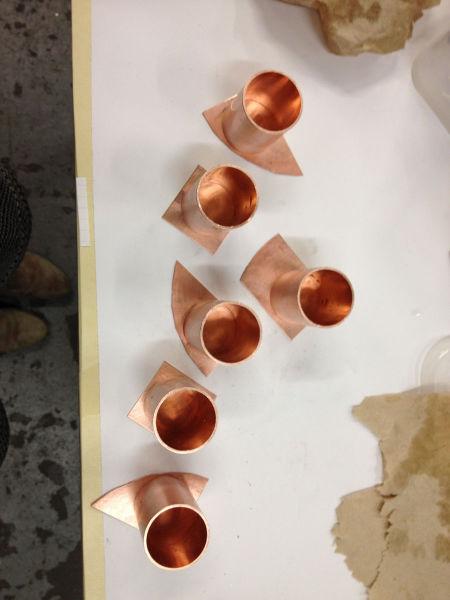 Awesome Homemade Copper Flask and Shot Glasses