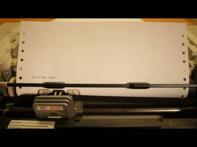 Survivor's 'Eye of the Tiger' on a Dot Matrix Printer  (VIDEO)