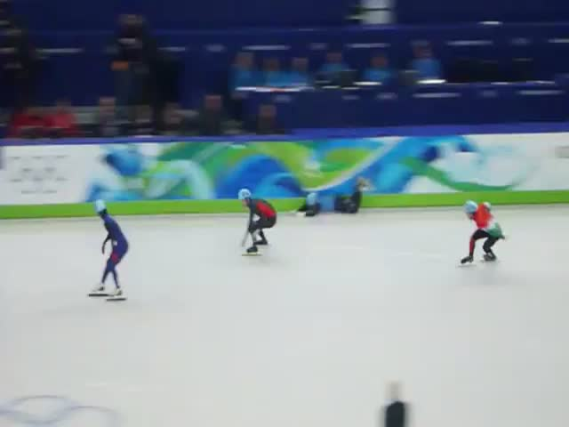 Sochi Olympic Speed Skating Mario Kart Mashup  (VIDEO)