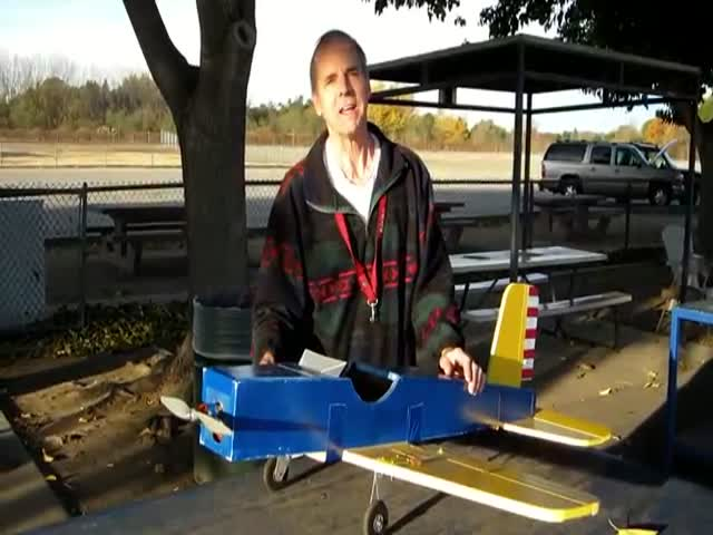 Squirrel Steals Model Airplane with Manual Controls  (VIDEO)
