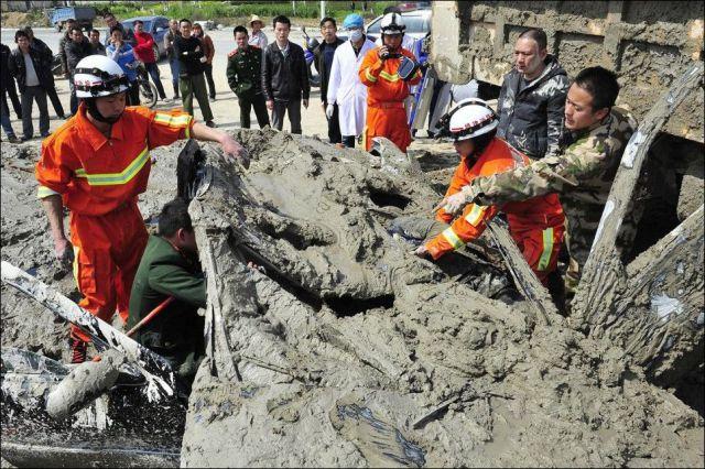 Chinese Woman's Near Death Escape