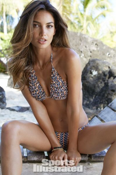 Lily Aldridge Sizzles in Swimsuits for Sports Illustrated 2014