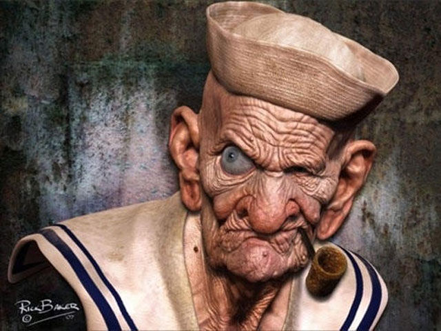Realistic Illustrations of Cartoon Characters