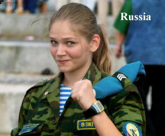 Army Girls from around the World