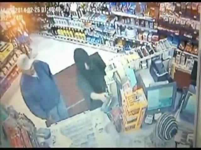 Armed Thief Gets Body Slammed by Store Customer  (VIDEO)