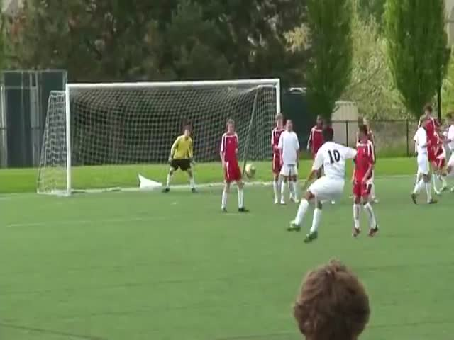 What a Beautiful Free Kick!  (VIDEO)