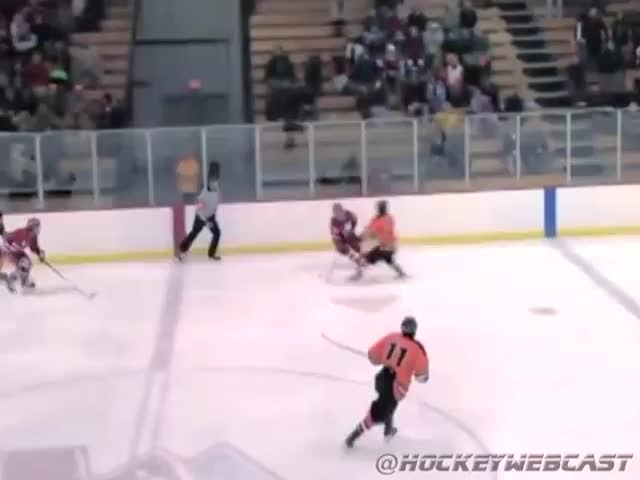 Massive High School Hockey Hit